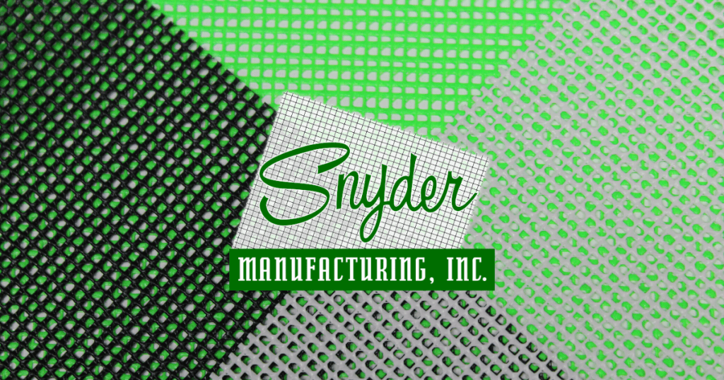 Snyder Manufacturing Coated Mesh Fabric